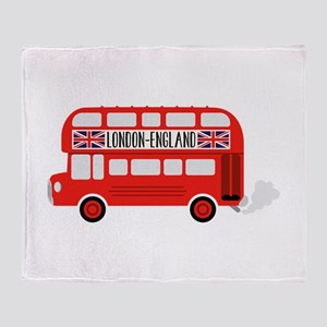 London England Throw Blanket